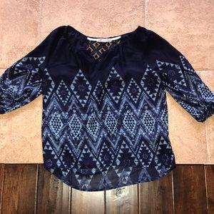 Aztec Navy blue shirt